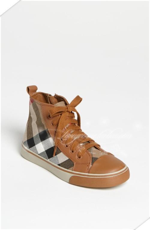 где купить кеды детские Burberry  'Tom' High Top Sneaker по лучшей цене
