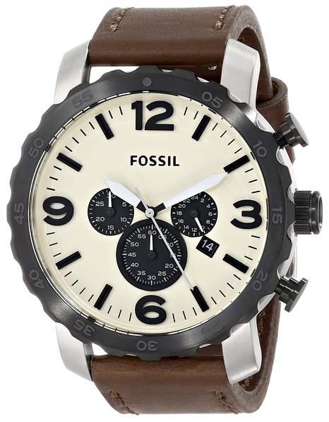 fossil fs4735 Часы Fossil  JR1390 Nate Leather Watch Brown