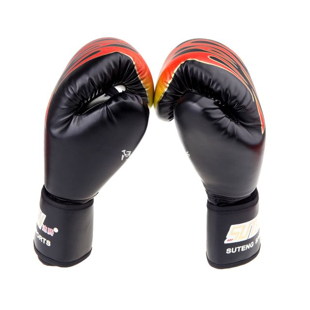 периферийные устройства USB PU Leather Boxing Training Gloves MMA Flame Muay Thai Punc wesing aiba approved boxing gloves 12oz competition mma training muay thai kickboxing sanda boxer gloves red blue