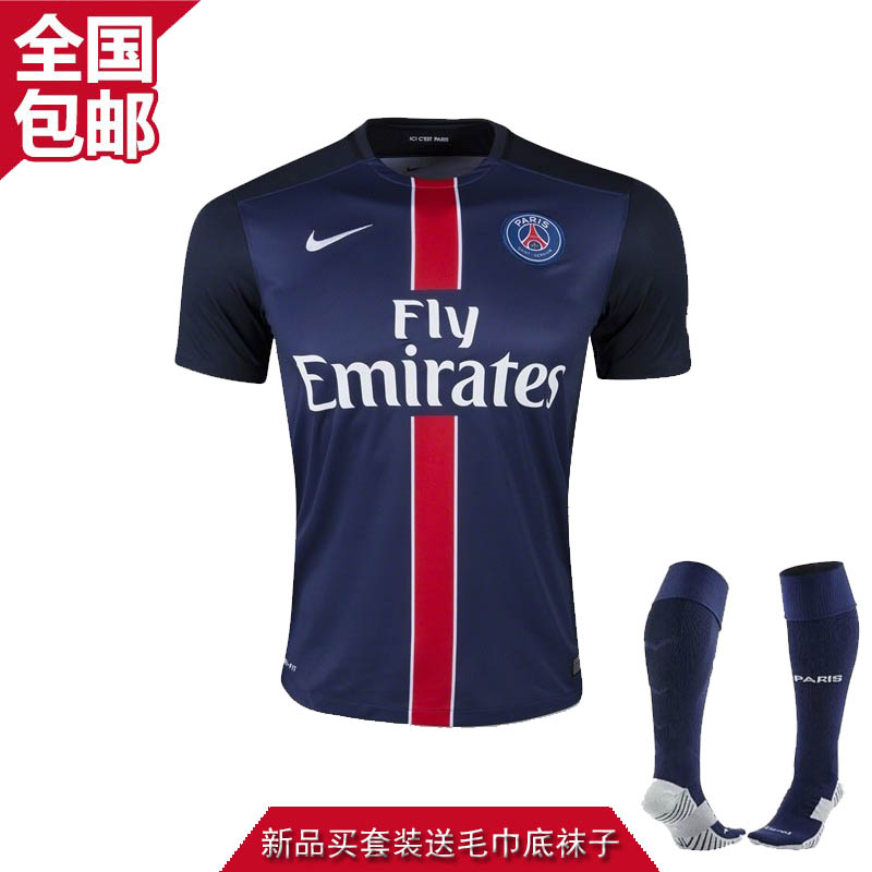 Футбольная форма 15/16 Paris home 15-16 32 10 soccer shirt uniforms 3a 15 16 15 16 argentina home away football shirt