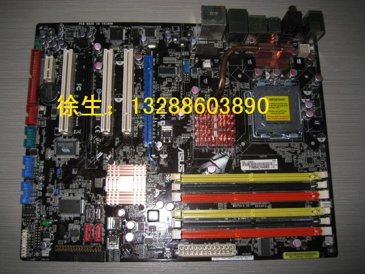 Фото Материнская плата ASUS P5KC P35 775 Ddr2 Ddr3 ytai for asus x401a x501a x301a laptop motherboard hm76 rev2 0 ddr3 pga989 mainboard 100% working