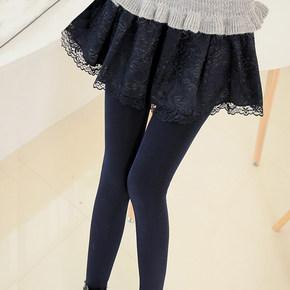假两件蕾丝裙裤
