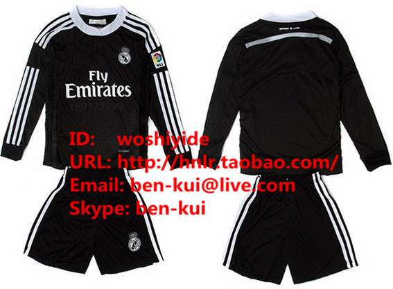 Футбольная форма OTHER  14/15 Real Madrid Third Away Black Dragon Long Sleeve Kids new baby princess infant wedding dress girl for girls children clothing dresses summer toddler kids girl party for girls clothes