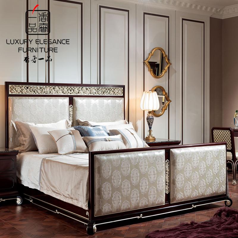 Кровать из массива дерева Luxury Elegance Furniture 1.5 1.8 XZS-097 кровать из массива дерева french style loft furniture