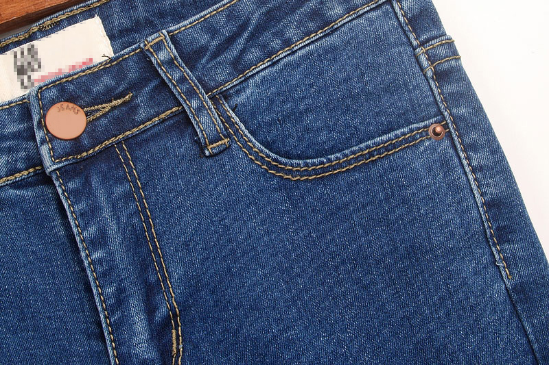 Джинсы женские Корейская версия колено отверстия тонкий Талль талии джинсы штаны, карандаш брюки ноги штаны детей к 2015 году новый прилив