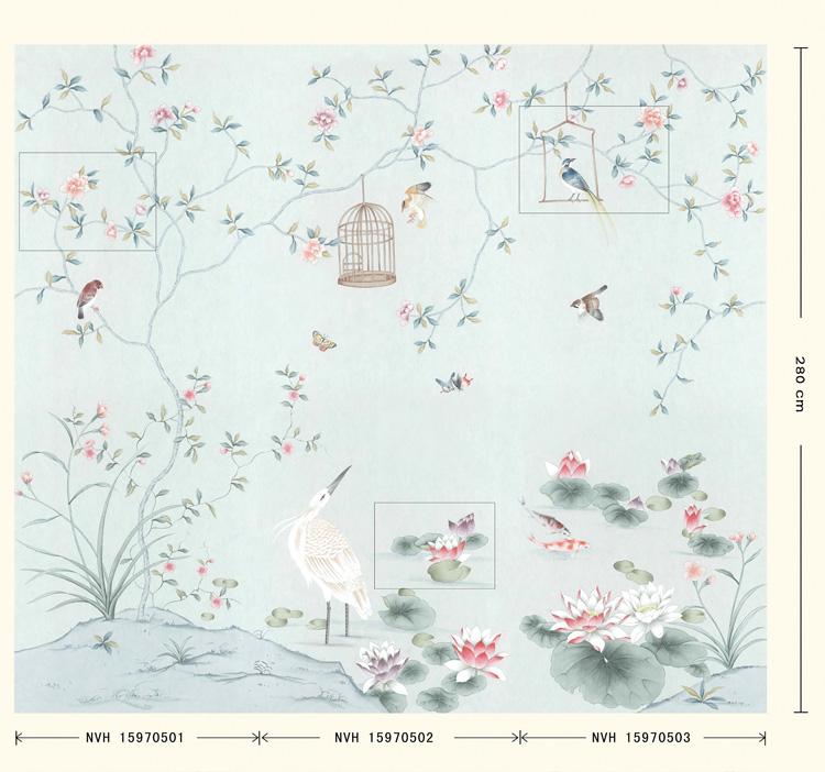 玉兰墙纸  壁纸国色天香NVH15970501