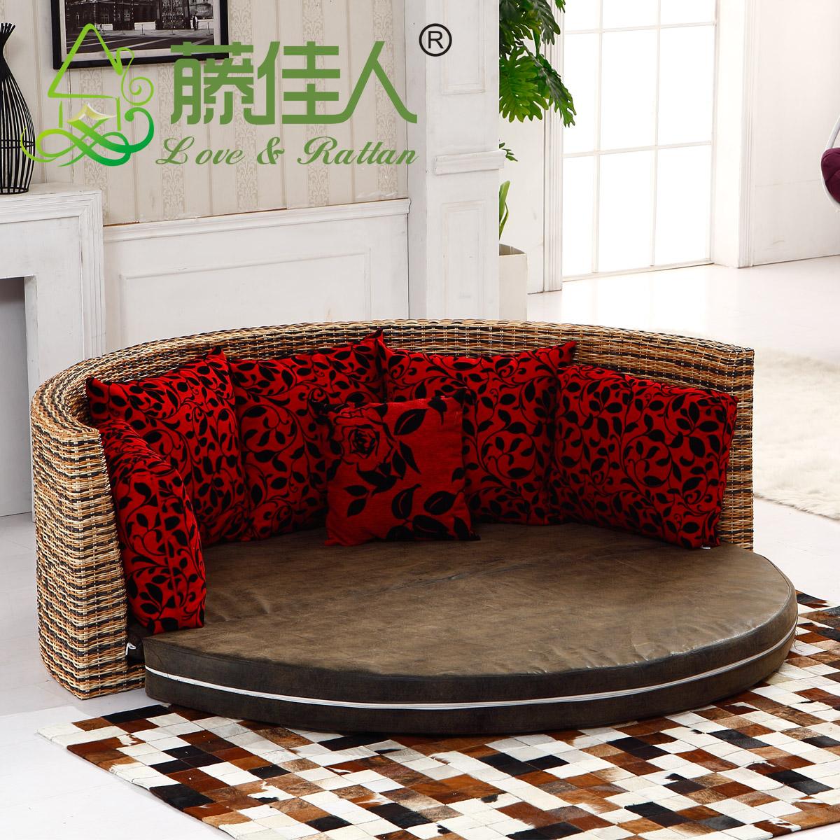 Диван-кровать Love & Rattan white rattan sofa purple cushions garden outdoor patio sofa rattan furniture swing pool table chair rattan sofa set