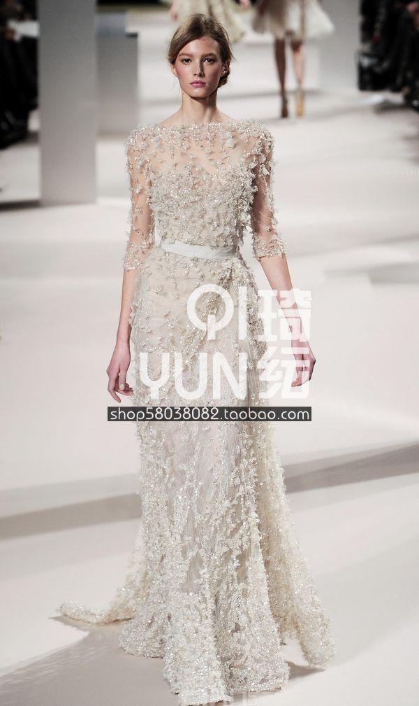 Вечернее платье   Elie Saab вечернее платье backless evening dresses sequin elie saab z2013122702