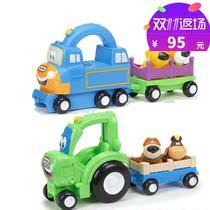 小火车宝宝玩具小拖车儿童发声小推车-小泰克运输车