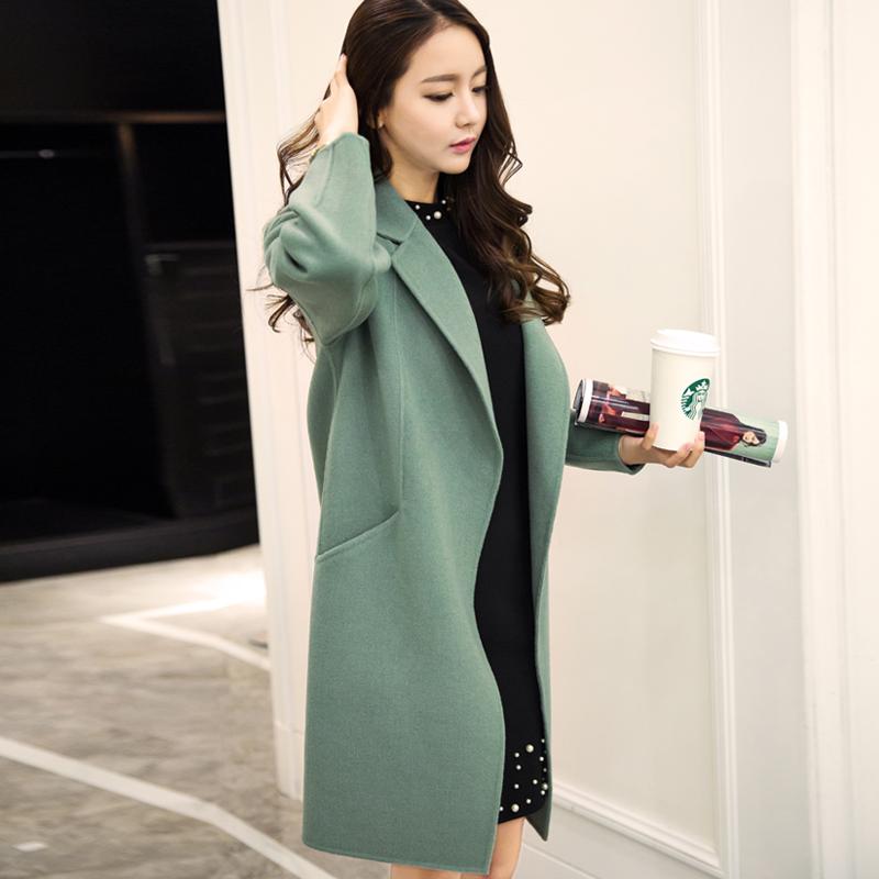 双面羊绒大衣女中长款2020秋冬新款高端毛呢外套韩版宽松零羊绒
