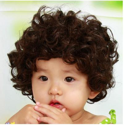 Парик Корейских детей парик ребенка Фото волос тиара девушки челки короткими курчавыми волосами фото фотографии пост