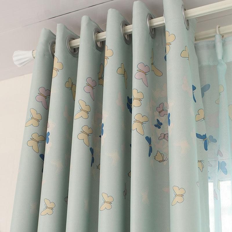Шторы тканевые Пользовательские детей мультфильм анимация шторы сделать желание мальчиков и девочек спальня экран готовый оттенок ткани эльф