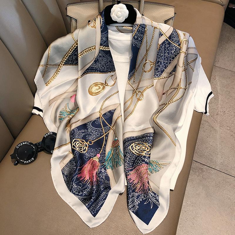 杭州专柜夏季原创新款时尚丝巾披肩春秋百搭气质职业领巾大方巾