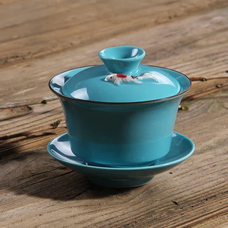 Китайский заварочный чайник Санкай керамические чаши/Супница чаша короля чашки/миски чаша Селадон керамические чай Кубок чаша