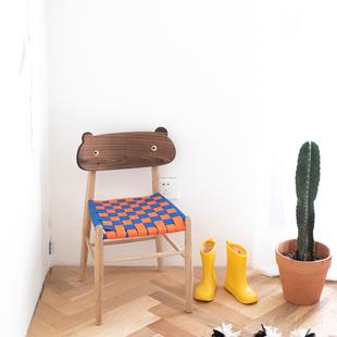 二黑木作 艾诺诺儿童椅北欧日式靠背椅宝宝餐椅小板凳换鞋凳亲子
