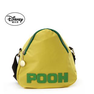 迪士尼单肩斜挎女包轻便尼龙布字母撞色休闲女包三角形包包粽子包