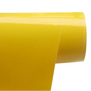 柠檬黄色贴纸烤漆家具贴膜冰箱贴门框橱柜衣柜电脑桌翻新墙纸壁纸