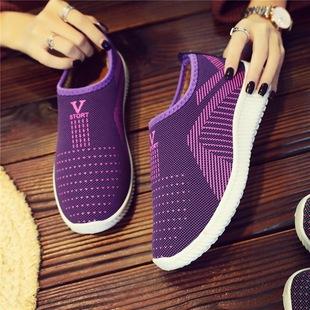 女鞋冬季一脚蹬防滑软底妈妈鞋加绒保暖老人棉鞋老北京布鞋奶奶鞋