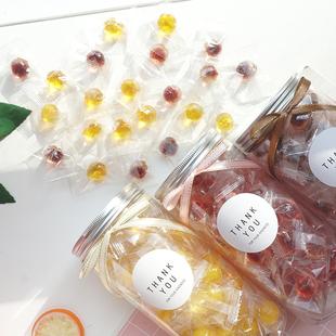 大瓶高颜值果汁爆浆果酱夹心软糖蓝莓草莓芒果味糖果礼盒生日礼物