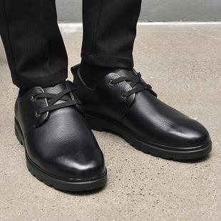 2019新款潮男鞋子英伦时尚百搭冬款真皮秋款商务休闲皮鞋系带单鞋
