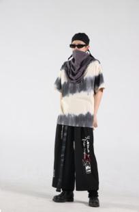 SFTTR 19SS T-SHIRT 条纹硫化黑白扎染Tee男女廓形宽松短袖T恤
