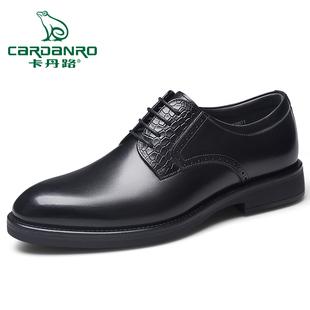 卡丹路2020年春季新款男鞋擦色高端宴会鞋真皮时尚正装商务皮鞋