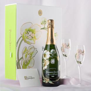 法國進口巴黎之花PerrierJouet Rose美麗時光香槟酒750ml禮盒雕花