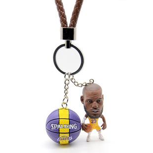 篮球钥匙扣科比詹姆斯库里哈登欧文韦德公仔挂件生日毕业圣诞礼品