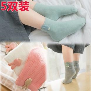 儿童袜子1-3-5-7-9-12岁大童男童女童宝宝中筒袜纯春秋季棉袜薄款