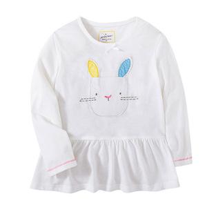 2019新春款女童纯棉长袖 卡通长袖T恤婴幼儿秋衣打底衫裙衫