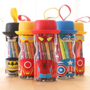 超级英雄创意文具机器人水彩笔 韩版卡通画笔可洗绘画笔学生礼品