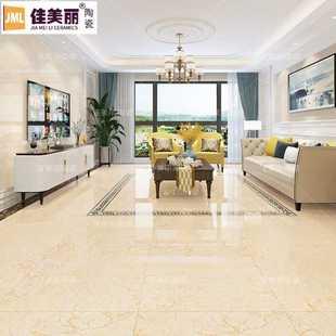 黄色通体大理石瓷砖800x800客厅地砖卧室地板砖 大厅餐厅背景墙砖