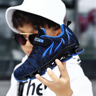 男童鞋2019新款春秋季网面透气运动鞋男童网鞋中大童小孩跑步鞋子
