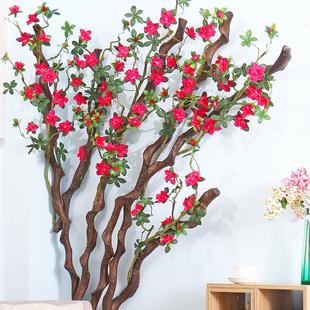 仿真花杜鹃花假花客厅室内植物墙装饰树摆件餐桌花摆花花墙背景墙