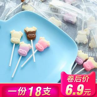 随你想牛头棒糖网红棒糖卡通儿童牛奶味棒糖果造型棒棒糖奶片零食