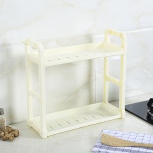 置物架收纳架储物架调味架调料架桌面2层迷你小型原木厨房用品