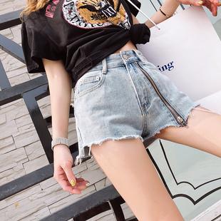 高腰牛仔短裤女夏2019新款韩版显瘦百搭a字裤港味chic性感热裤潮