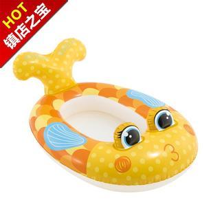 遮q阳小孩坐骑1-3-6岁宝腋下圈男孩女孩游艇儿童游泳圈坐圈