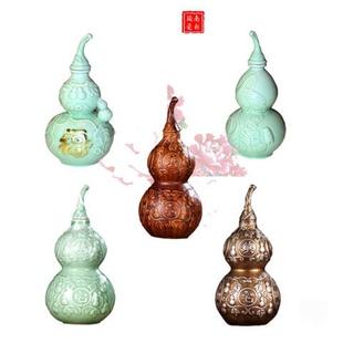 仿古空陶瓷酒瓶子一斤装酒葫芦密封装酒坛子陶瓷摆件药泡酒瓶酒壶
