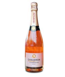 法國進口葡萄酒 香槟産區 夏爾桐粉紅香槟Rose Chaudron高端750ml