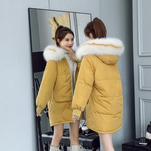 反季棉服女冬ins超火原宿少女东大门面包工装新款宽松mm中长外套