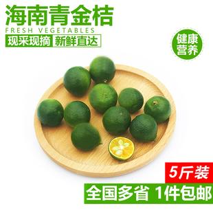 海南青金桔5斤装 新鲜水果桔子小青桔小柠檬金橘榨汁奶茶饮品原料
