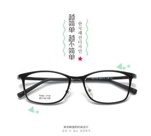 高度近視眼鏡男女學生眼鏡框輕複古眼鏡配散光眼鏡平光眼鏡非球面
