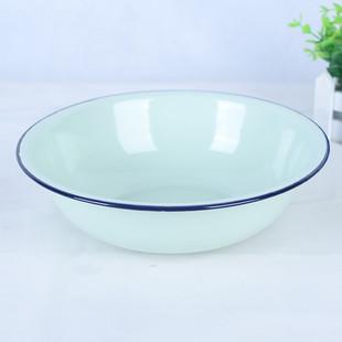 特厚搪瓷碗老式家用厨房搪瓷碗 经典怀旧复古珐琅饭碗汤碗搪瓷碗