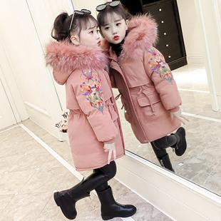 女童羽绒棉衣2018新款韩版中大童加厚儿童冬装棉服袄外套女孩童装