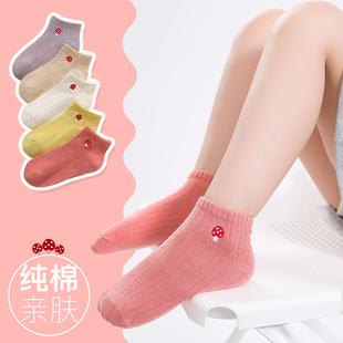 兒童襪子可愛卡通小孩棉襪女童寶寶夏季薄春秋短襪中大童純棉船襪