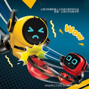 指尖陀螺小宝新款魔幻旋转战斗盘梦幻4拉线炫斗机器人小Q儿童玩具