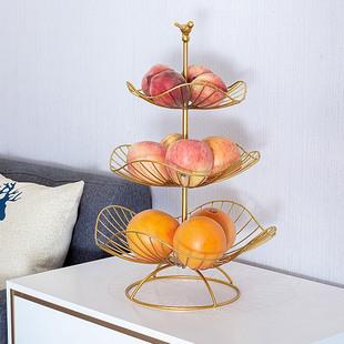 北欧风格水果盘客厅家用三层水果盘现代简约精致多层果篮超大果盘