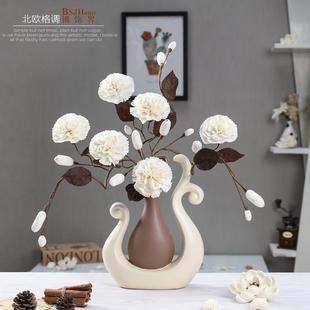 北欧干花家居花瓶装饰品创意电视柜客厅摆件餐桌书房卧室花艺摆设
