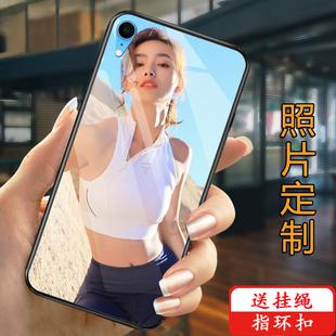 苹果x手机壳定制iphonexs玻璃6s保护套软7plus来图订做diy苹果xs max任意型号8/7照片6P八女款创意情侣xr自制